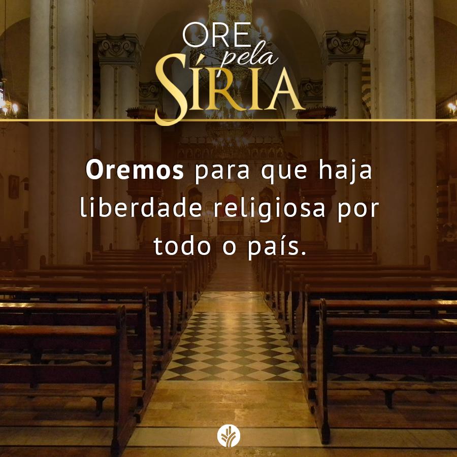 A Síria precisa de nossas orações, oremos este mês pela liberdade religiosa